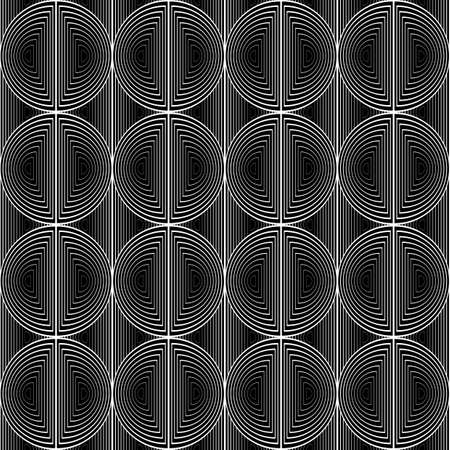 no lines: Design seamless monochrome circle lines pattern. Abstract grid textured background. Vector art. No gradient