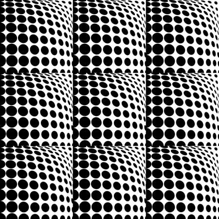 salient: Design seamless monochrome dots background. Abstract geometric pattern. Vector art. No gradient Illustration