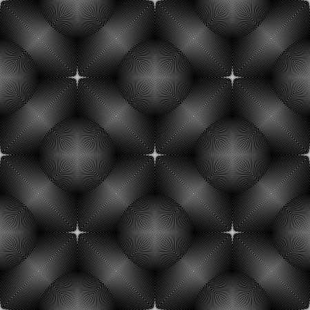 concave: Design seamless monochrome illusion pattern. Abstract concave textured background. Vector art. No gradient