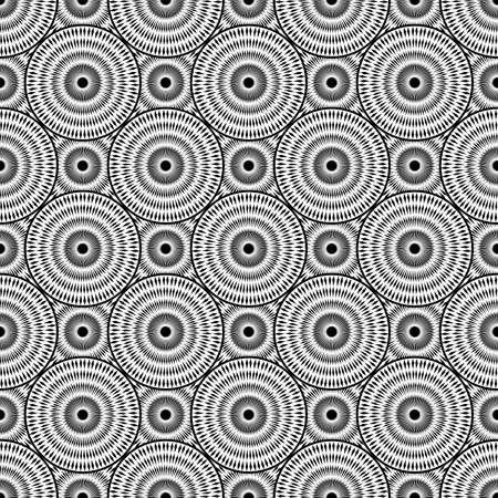 elipse: Dise�o de fondo sin fisuras elipse monocromo. Tira abstracta patr�n geom�trico. Vector el arte. No degradado