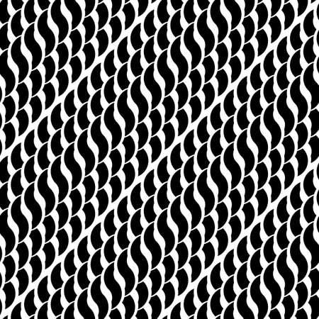 wattle: Design seamless monochrome interlaced pattern. Abstract diagonal stripy background. Vector art