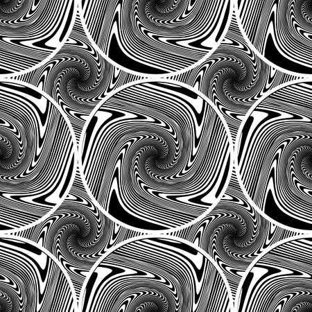 ellipse: Design seamless monochrome ellipse background. Abstract strip geometric pattern. Vector art. No gradient