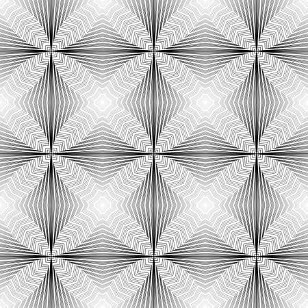 no lines: Design seamless monochrome geometric pattern. Abstract waving lines background. Vector art. No gradient Illustration