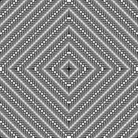 checkered volume: Design seamless monochrome diamond pattern. Abstract textured background. Vector art. No gradient Illustration