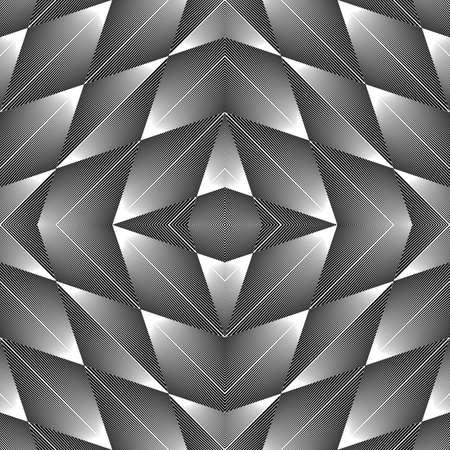 no lines: Design seamless diamond geometric pattern. Abstract monochrome lines background. Vector art. No gradient