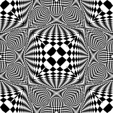 checkered volume: Design seamless monochrome checked pattern. Abstract textured background. Vector art