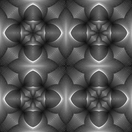 no gradient: Design seamless monochrome pattern. Abstract decorative background. Vector art. No gradient
