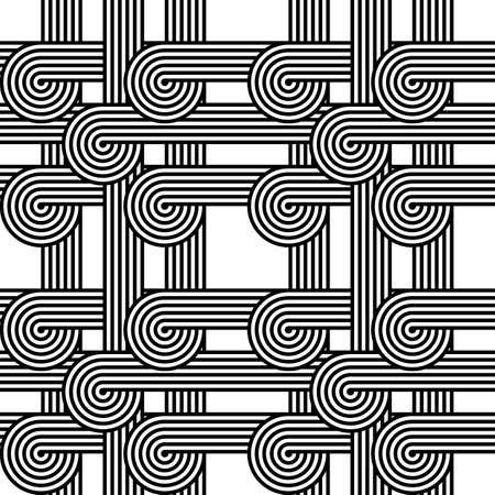 stripy: Design seamless monochrome geometric pattern. Abstract stripy background. Vector art