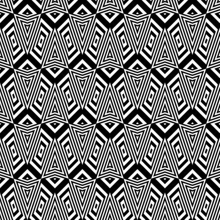 stripy: Design seamless monochrome geometric pattern. Abstract stripy background. Vector art