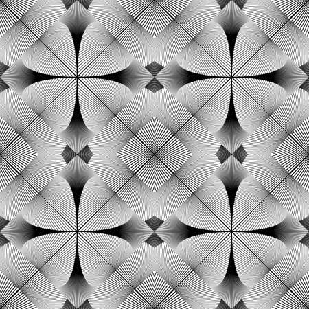 no lines: Design seamless decorative geometric pattern. Abstract monochrome lines background. Vector art. No gradient