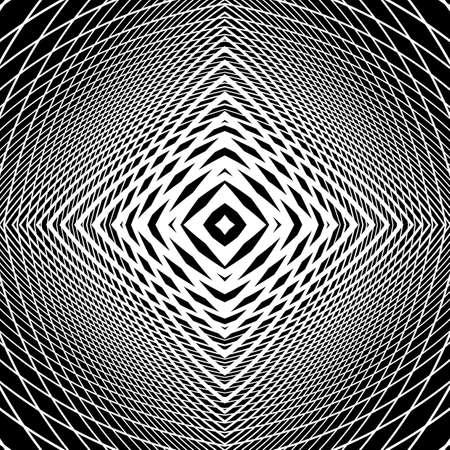 deform: Design monochrome grid textured background. Abstract distortion backdrop. Vector-art illustration. No gradient Illustration
