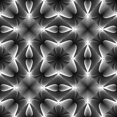 no lines: Design seamless monochrome lines pattern. Abstract decorative background. Vector art. No gradient
