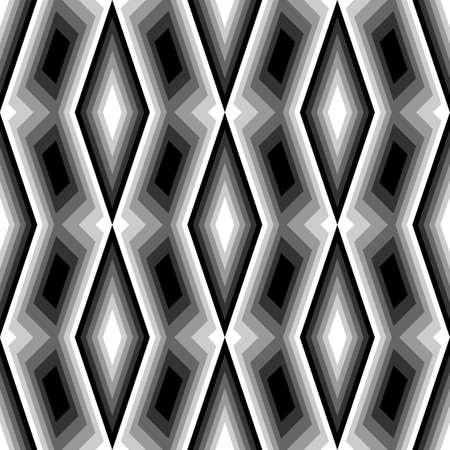 deform: Design seamless monochrome diamond pattern. Abstract geometric background. Vector art. No gradient