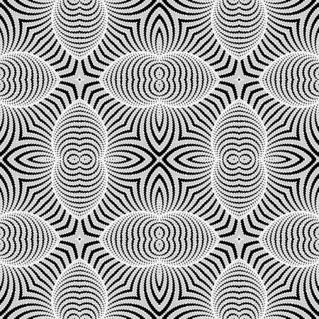 convex shape: Design seamless monochrome striped background. Abstract distortion pattern. Vector art. No gradient