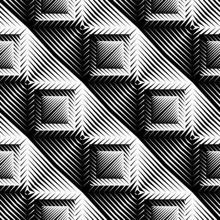 checkered volume: Design seamless square convex pattern. Abstract geometric monochrome background. Vector art. No gradient