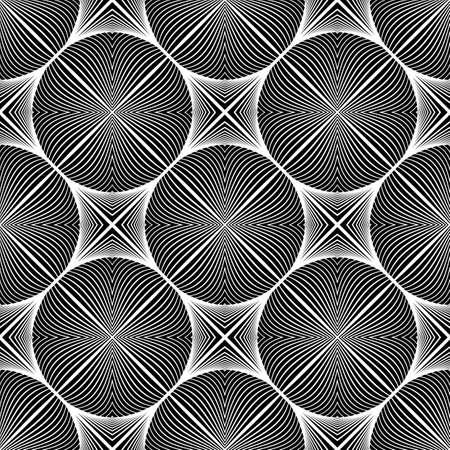 elipse: Diseño modelo elipse monocromo transparente. Líneas abstractas con textura de fondo. Vector el arte. No degradado Vectores