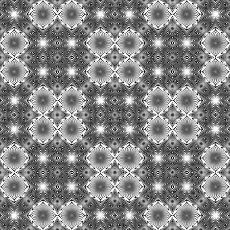 no lines: Design seamless monochrome geometric pattern. Abstract lines textured background. Vector art. No gradient