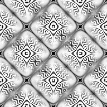 torsion: Design seamless monochrome diamond background. Abstract stripe torsion texture. Vector art. No gradient