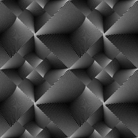 diamante negro: Diseñar patrón geométrico sin fisuras de baldosas. Resumen de antecedentes líneas monocromáticas. Arte del vector. No degradado