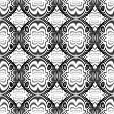 elipse: Dise�o modelo elipse monocromo transparente. L�neas abstractas con textura de fondo. Vector el arte. No degradado Vectores