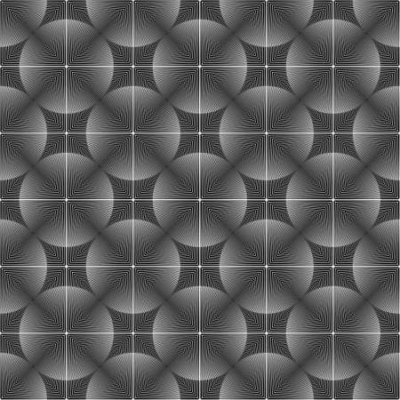 no lines: Design seamless monochrome circle pattern. Abstract lines textured background. Vector art. No gradient