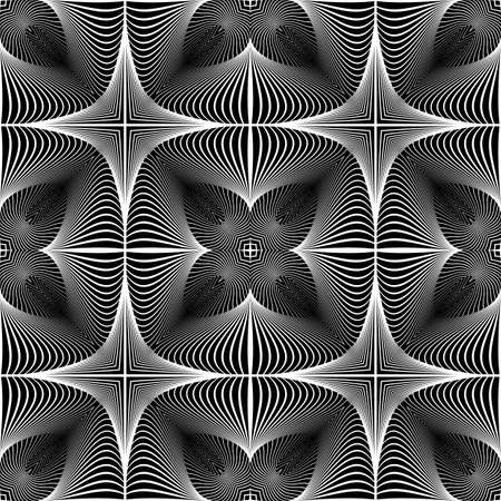 no gradient: Design seamless monochrome decorative pattern. Abstract lines textured background. Vector art. No gradient
