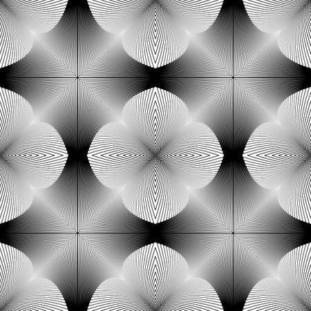 gray strip: Design seamless monochrome illusion pattern. Abstract lines textured background. Vector art. No gradient