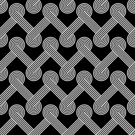 stripy: Design seamless monochrome zigzag pattern. Abstract stripy background. Vector art