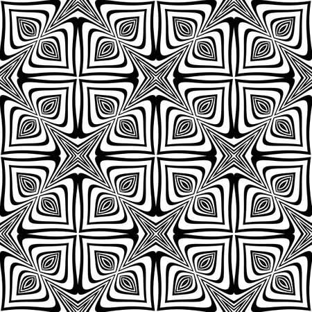 torsion: Design seamless monochrome geometric background. Abstract striped torsion pattern. Vector art. No gradient