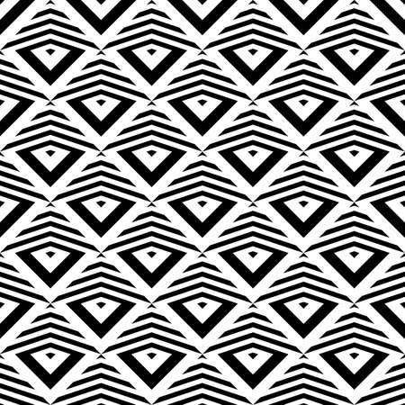 striped background: Design seamless monochrome geometric pattern. Abstract striped background. Vector art