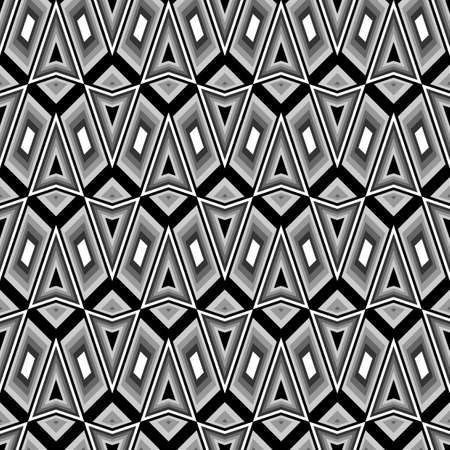 deform: Design seamless monochrome zigzag pattern. Abstract geometric background. Vector art. No gradient Illustration