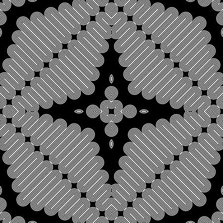zigzag: Design seamless monochrome zigzag pattern. Abstract striped background. Vector art. No gradient