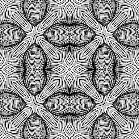 deform: Design seamless monochrome striped background. Abstract pattern. Vector art. No gradient