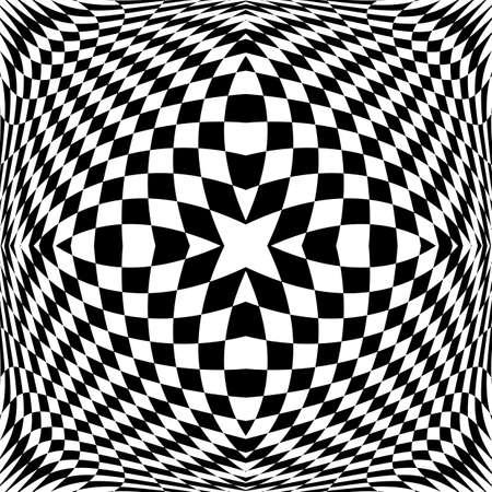 checkered volume: Design monochrome checkered background. Abstract geometric pattern. Vector art Illustration
