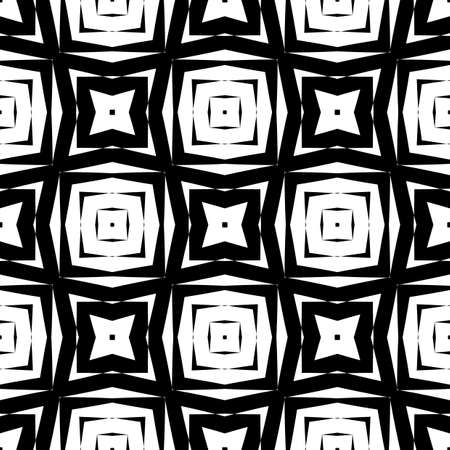 deform: Design seamless monochrome geometric pattern. Abstract textured background. Vector art