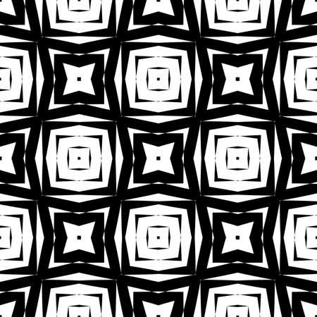 deform: Design seamless monochrome geometric pattern. Abstract textured background. Vector art