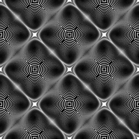 no gradient: Design seamless monochrome diamond background. Abstract stripe torsion texture. Vector art. No gradient