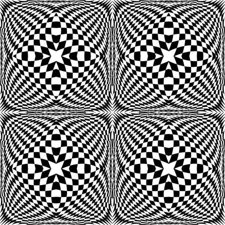checkered volume: Design seamless monochrome checked pattern. Abstract geometric background. Vector art. No gradient Illustration