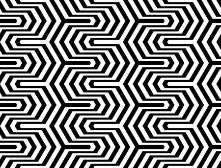 Design seamless monochrome zigzag geometric pattern. Abstract stripy background. Vector art
