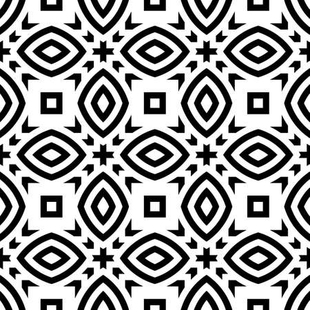 bends: Design seamless monochrome striped pattern. Abstract background. Vector art