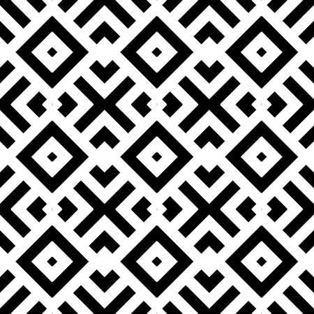 Ontwerp Naadloze ruitpatroon. Abstract geometrische zwart-wit achtergrond. vector kunst Vector Illustratie