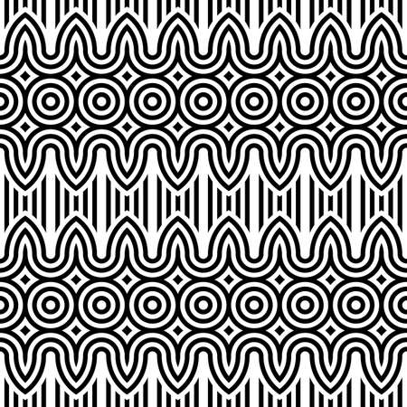 zigzag: Design seamless monochrome zigzag pattern. Abstract striped background. Vector art