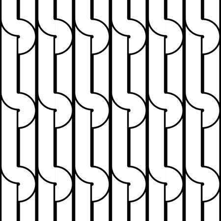 interlace: Design seamless monochrome geometric pattern. Abstract background. Vector art