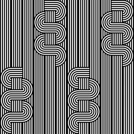 stripy: Design seamless monochrome waving pattern. Abstract stripy background. Vector art Illustration