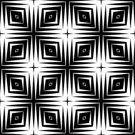 no gradient: Design seamless diamond pattern. Abstract geometric monochrome background. Vector art. No gradient Illustration
