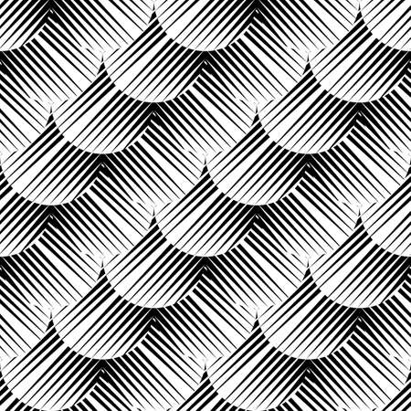 volumetric: Design seamless monochrome geometric pattern. Abstract diagonal background. Vector art. No gradient Illustration