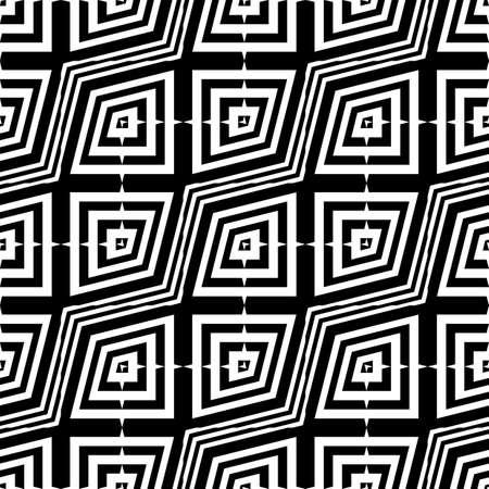 zigzag: Design seamless monochrome zigzag pattern. Abstract geometric background. Vector art. No gradient Illustration
