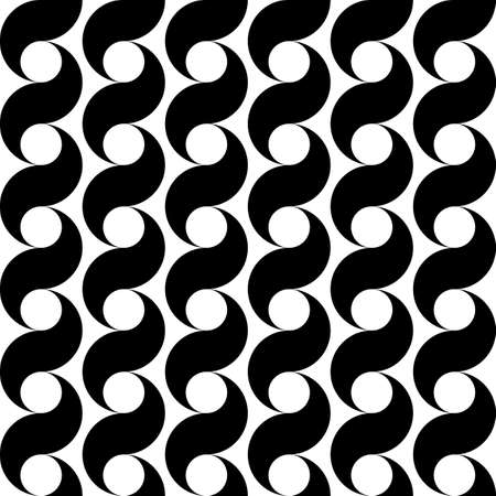 vertical: Design seamless monochrome waving pattern. Abstract vertical background. Vector art Illustration