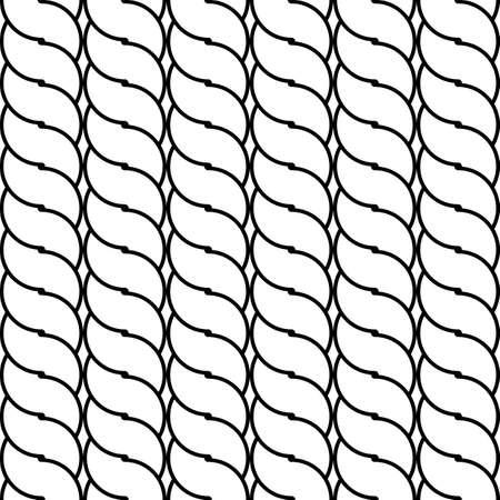 interlace: Design seamless monochrome waving pattern. Abstract background. Vector art