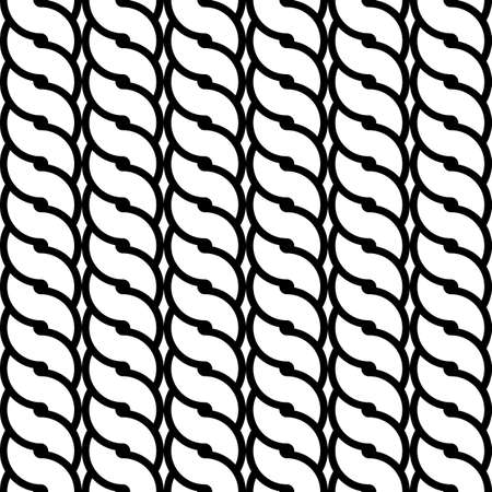 deform: Design seamless monochrome waving pattern. Abstract background. Vector art